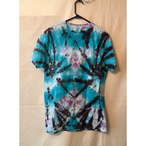 Tie dye T shirt dyed by hand spider design